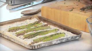 Tomato, asparagus and ricotta tart