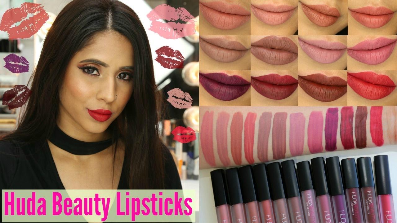 Huda Beauty Liquid Lipsticks Swatches Review Mac Nc40 Nc42 Pakistani Indian Skin