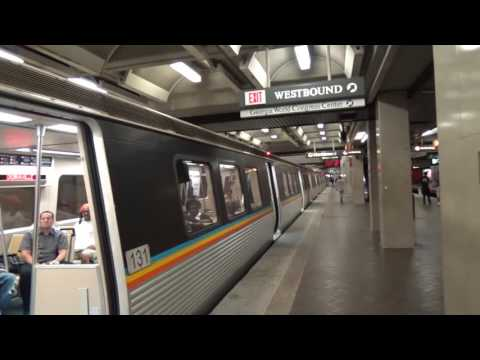 MARTA: Doraville-bound Gold Line train at Five Points (08-15-16)
