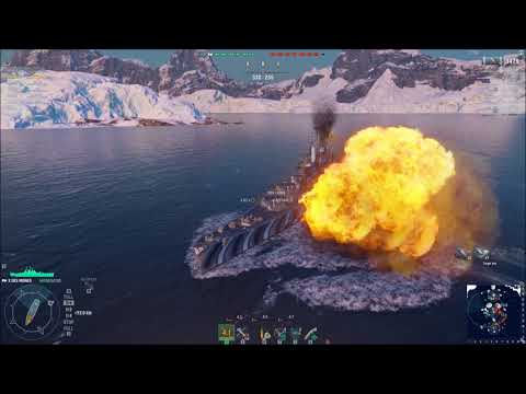 Des Moines class fun! - World of warships action!