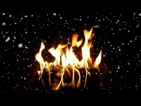 Snowy Yule Log Fireplace with Christmas Music (Instrumental)