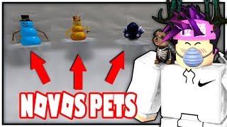 Roblox - os novos pets no ⟪ Snow Shoveling Simulator ⟫