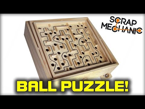 Building a Wooden Ball Labyrinth Tilting Puzzle! (Scrap Mechanic Live Stream)