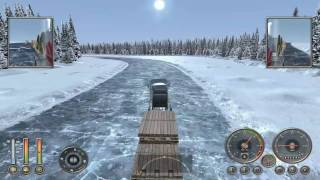 18 Wheels of Steel Extreme Trucker Ice Road TRUCK ACCIDENT ON ICE ROAD ATI HD 4850 Hdmi 1920 X 1080 All High Directx