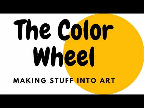 Art Room Garden: Color Wheel Found Objects