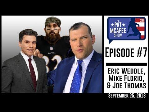 The Pat McAfee Show 2.0 Episode 7: Eric Weddle, Mike Florio, & Joe Thomas