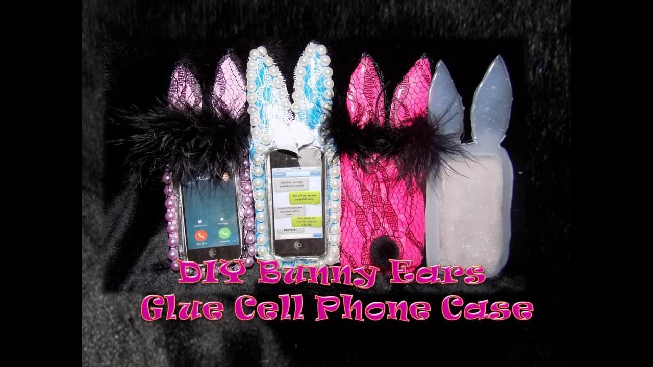 more photos 6d445 3b839 Miniature Hot Glue IPhone Case with Bunny Ears DIY - Cute Hot Glue Gun Doll  Phone Case Tutorial
