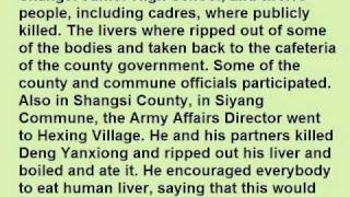 Brutal Chinese Communist Party Cannibalism in Chinese Cultural Revolution