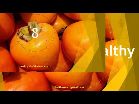 Top 10 Health Benefits of Persimmon | Healthy Wealthy Tips