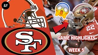 49ers vs. Browns Week 5 Highlights | NFL 2019