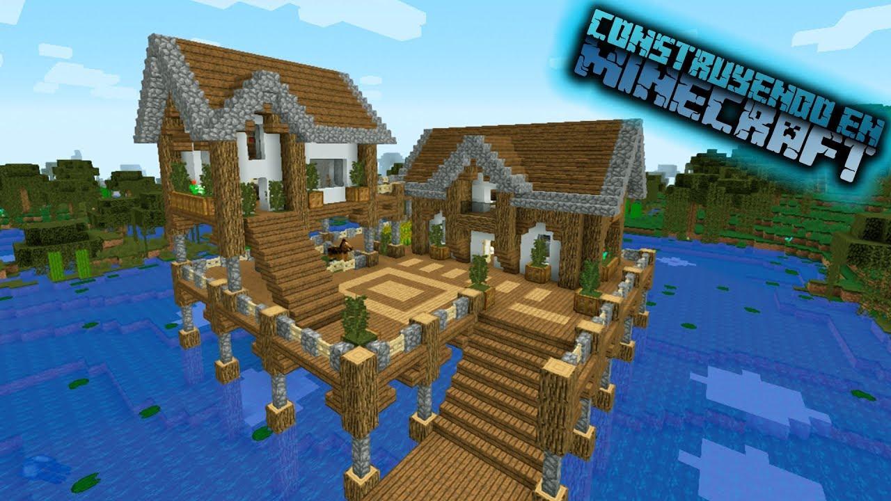 Como hacer una casa sobre el pantano en minecraft para for Como hacer una casa clasica en minecraft
