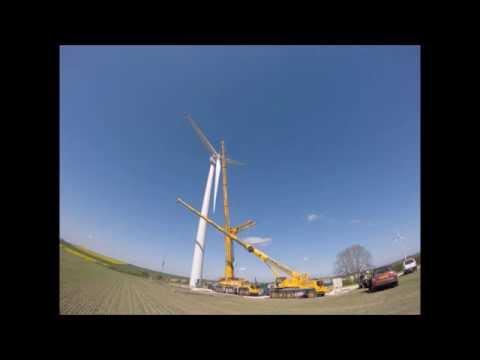 Wind Turbine Time Lapse EWT