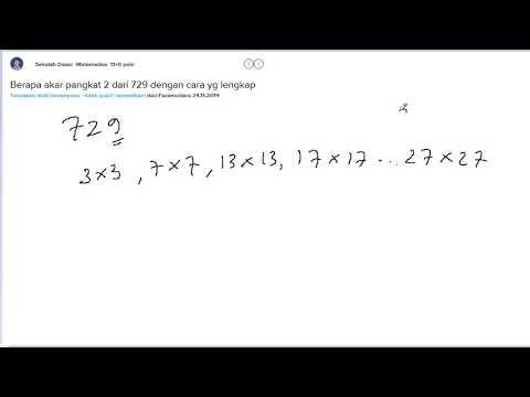 35 bagian iv penarikan akar dan tigaan pythagoras a. Berapa Akar Pangkat 2 Dari 729 Dengan Cara Yg Lengkap Youtube