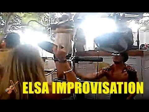Elsa Electric Violin plays at Auro 's party Bol Croatia