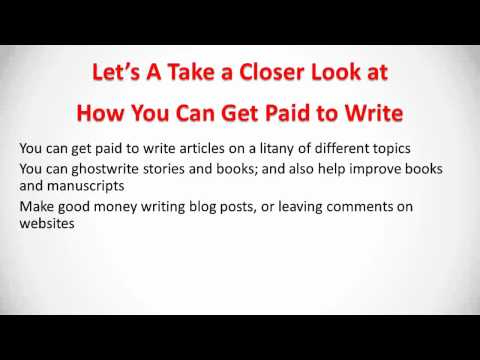 Jobs for Writers - Make Money Writing