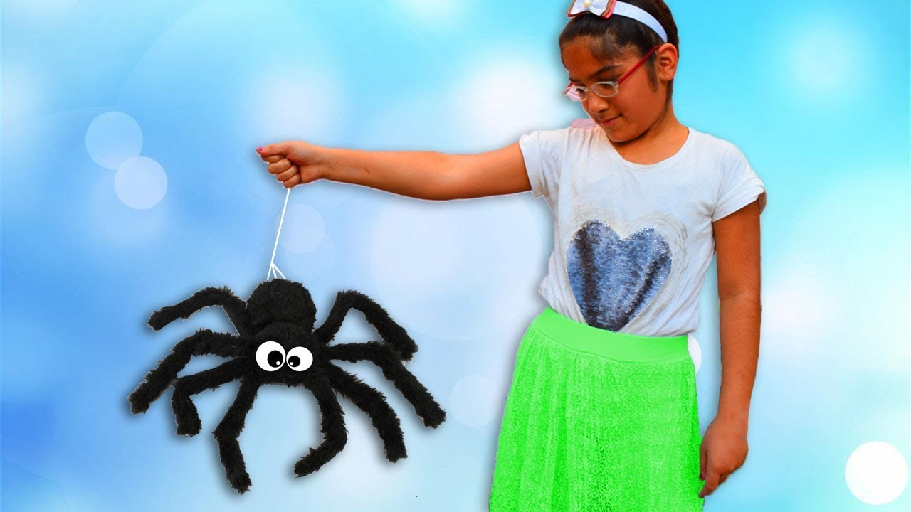 spider bites Malak - Spider chasing and holding Malak - Fun Video For Kids