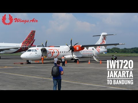 Wings Air Flight IW1720 Experience | Jakarta to Bandung | ATR72-600 | Inaugural Flight