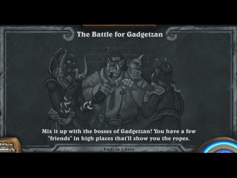 Hearthstone - Tavern Brawl - The Battle for Gadgetzan (All 3 Leaders)