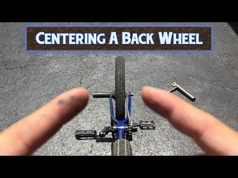 How to Center Your Back Wheel EASY - BMX HACK