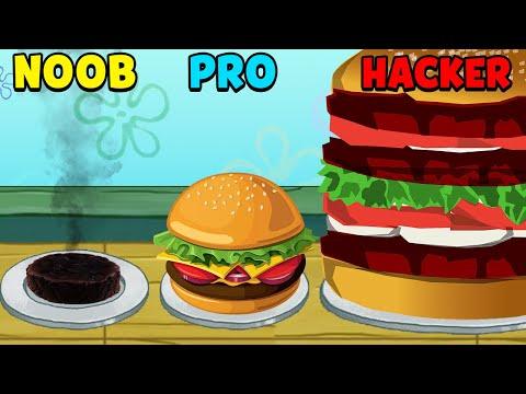 NOOB Vs PRO Vs HACKER - SpongeBob: Krusty Cook-off