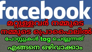 Facebook tips who can post your Timeline and Tagging (malayalam)