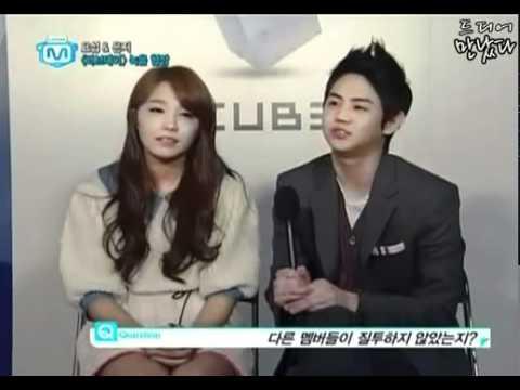 120315 Mnet Wide - A Pink Eunji and Beast Yoseob Love Day Interview