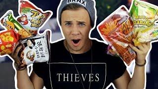 AUSTRALIAN TRIES ASIAN CANDY  | Joel Eats Junk
