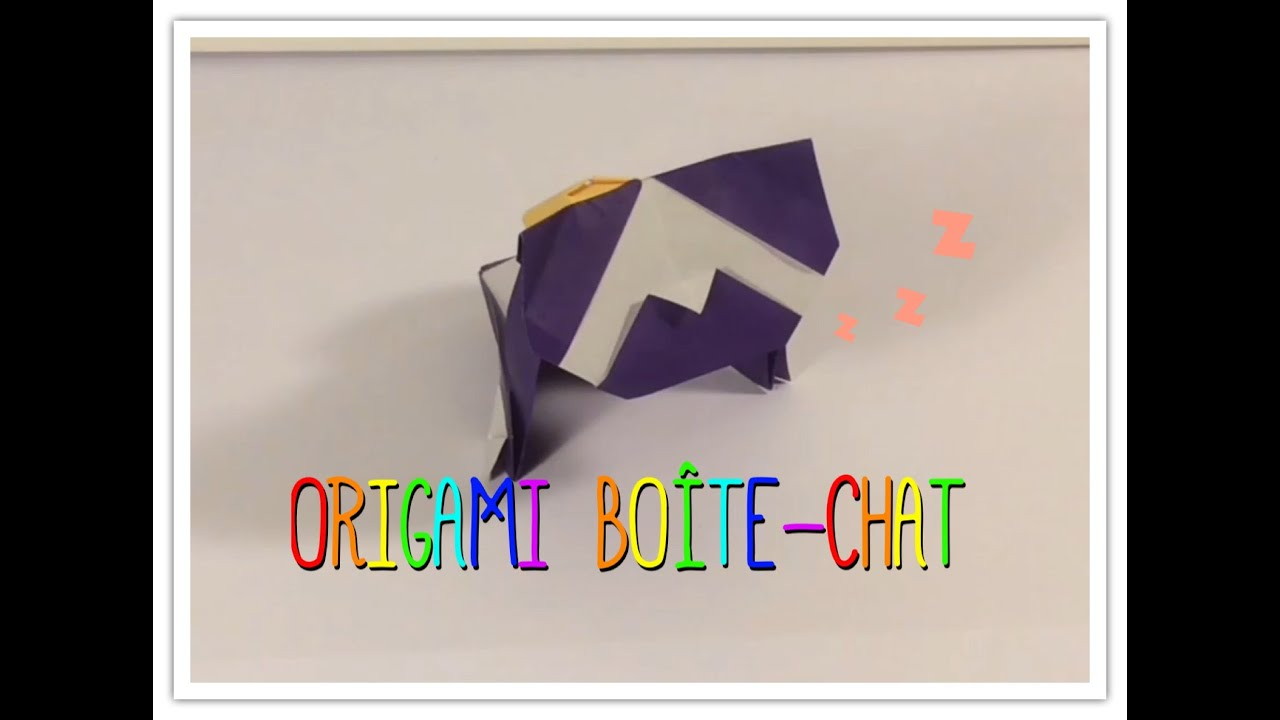 ORIGAMI BOÎTE-CHAT / BOX - CAT (Mathis Lopez - Funny ... - photo#21