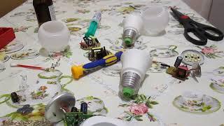 Ремонт светодиодной лампы в домашних условиях.