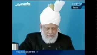 La sincérité et l'obéissance des compagnons du Messie promis (a.s) - Sermon du 25-05-2012