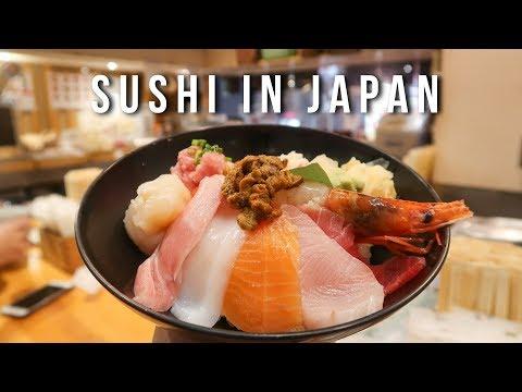Delicious Sushi At Tsukiji Fish Market And Traditional Japanese Tea In Tokyo Japan - Vlog #40 Part 1