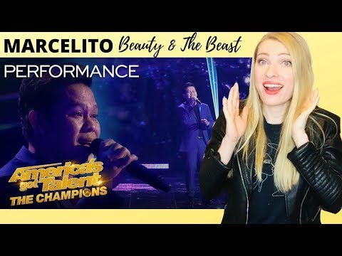 Vocal Coach Reacts: Marcelito Pomoy Beauty & The Beast America&39;s Got Talent The Champions
