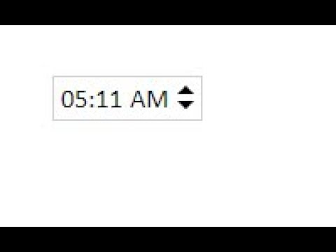 Timepicker Spinner with jQuery