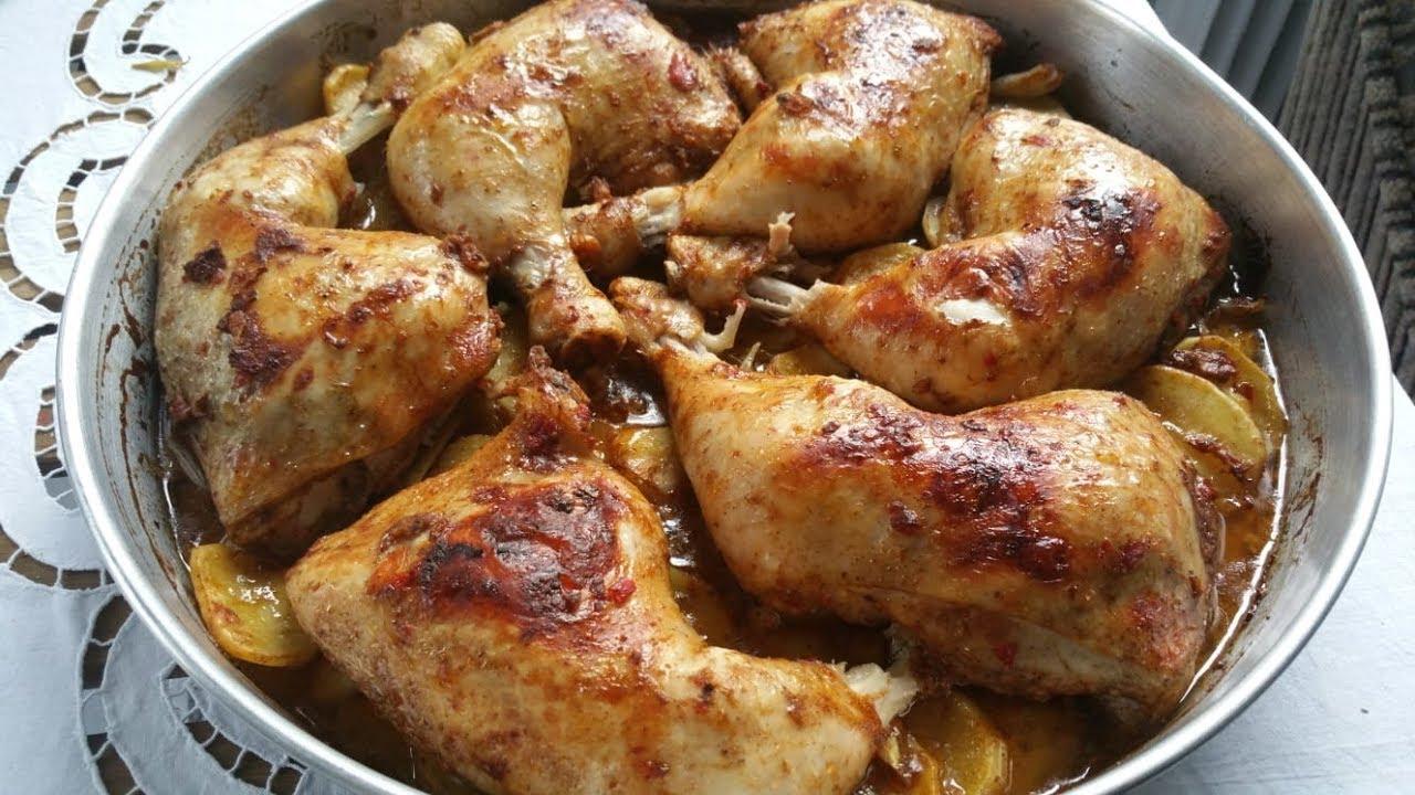 وصفة دجاج مشوي بالفرن طعم رائع