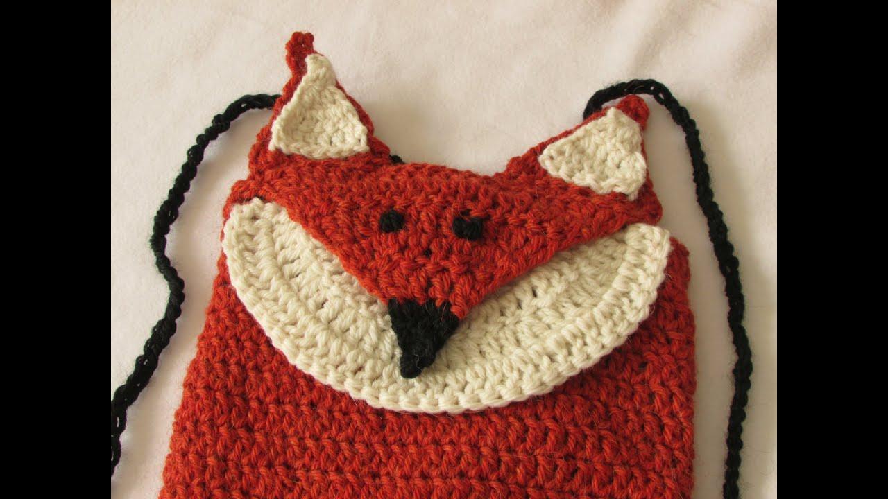 VERY EASY crochet fox backpack / bag / rucksack tutorial ...