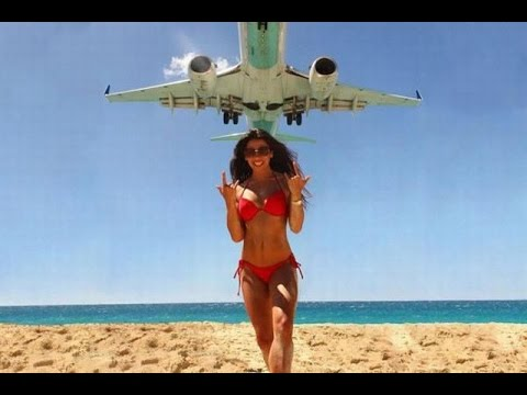 EXTREME PLANE LANDING Phuket beach low approach amazing landing Thailand Gopro hero3+ travel