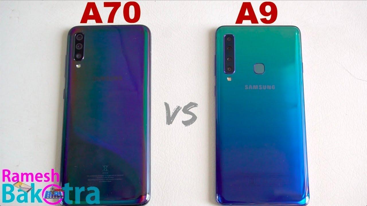 samsung galaxy a70 vs galaxy a9 2018 speedtest and camera comparison