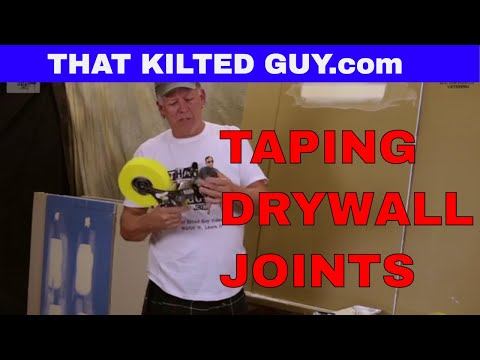 Taping drywall joints with Paper Tape, Mesh Tape, and a NEW product that I LOVE