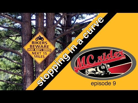 How to stop a motorcycle quickly in a curve - MCrider episode 9