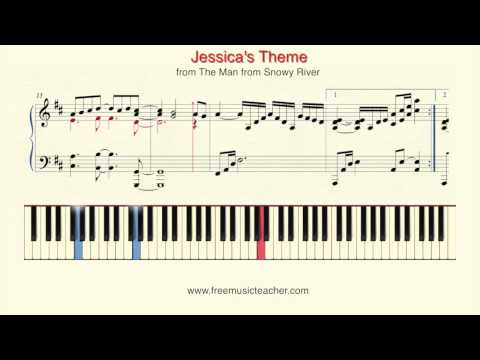 "How To Play Piano: Jessica's Theme from The Man from Snowy River""Piano Tutorial by Ramin Yousefi"