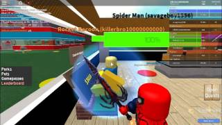 playing super hero taycoon on roblox