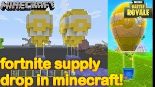 Minecraft - How to make a Fortnite supply drop!
