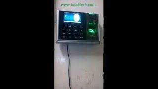 ZK S30 biometric fingerprint device video demo