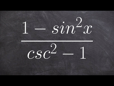 Pre-Calculus - Simplifying trigonometric expressions by using pythagorean identities