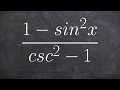 Simplifying trigonometric expressions by using pythagorean identities