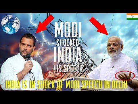 INDIA in Shock of Modi Speech in New Delhi on what he did