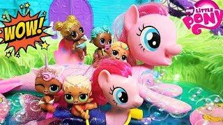 КУКЛЫ ЛОЛ МУЛЬТИКИ! РУСАЛКА В БАССЕЙНЕ ЛОЛ #lolsurpise #мультики #pony