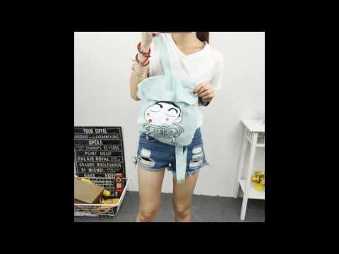 4T - Áo Khoác Nữ Túi Balo Rời Màu Xanh Ngọc Mã B0434