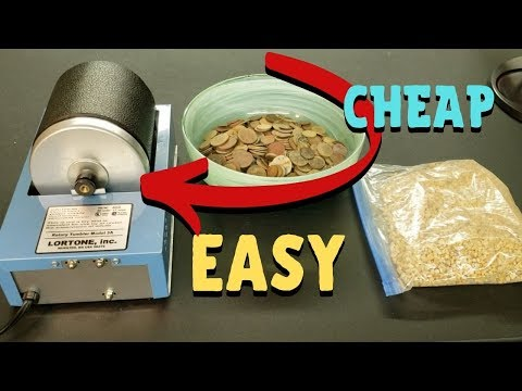 Cleaning Corroded Coins With A Rock Tumbler Easy And Cheap.
