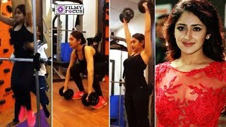 Sayesha Saigal Workout with GYM Trainer - Filmy Focus - Tamil | Arya Sayyeshaa Marriage Video